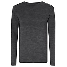 Buy Samsoe & Samsoe Jeppe Basketweave Wool Jumper, Grey Melange Online at johnlewis.com