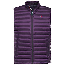 Buy Tommy Hilfiger Lightweight Packable Gilet, Purple Online at johnlewis.com