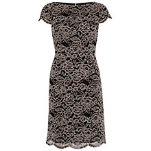Buy Gina Bacconi Vintage Corded Lace Dress, Dark Beige Online at johnlewis.com