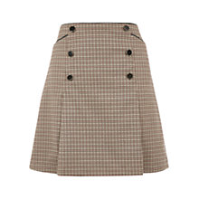 Buy Oasis Check Pleated Skirt, Multi Online at johnlewis.com