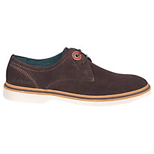 Buy Barbour Onwen Shoes, Dark Brown Online at johnlewis.com