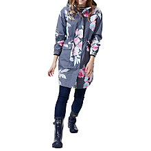 Buy Joules Right as Rain Raina Waterproof Printed Parka, Grey Bloom Online at johnlewis.com