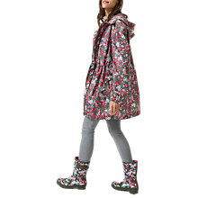 Buy Joules Right as Rain Golightly Pack Away Waterproof Parka, Deep Camoflage Floral Online at johnlewis.com