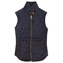 Buy Joules Braemar Quilted Gilet, Navy Online at johnlewis.com