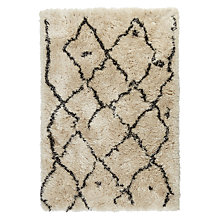 Buy John Lewis Plush Berber Rug, White Online at johnlewis.com