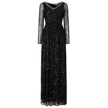 Buy Jacques Vert Embellished Maxi Dress, Black Online at johnlewis.com
