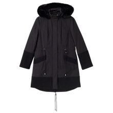 Buy Precis Petite Imogen Hooded Parka Coat, Black Online at johnlewis.com