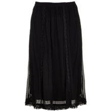 Buy Ghost Tammy Georgette and Lace Skirt, Black Online at johnlewis.com