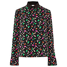 Buy Warehouse Geo Party Print Shirt, Black Online at johnlewis.com