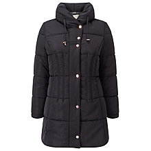 Buy Jacques Vert Mid Length Puffer Jacket, Black Online at johnlewis.com