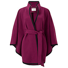 Buy Jacques Vert Contrast Trimmed Cape, Dark Red Online at johnlewis.com