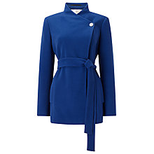 Buy Jacques Vert Asymmetric Short Coat, Mid Blue Online at johnlewis.com