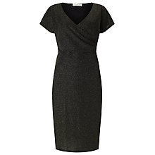 Buy Jacques Vert Cross Front Dress, Multi Black Online at johnlewis.com