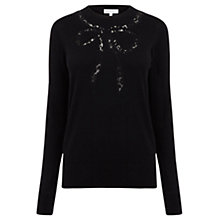 Buy Warehouse Lace Bow Jumper Online at johnlewis.com
