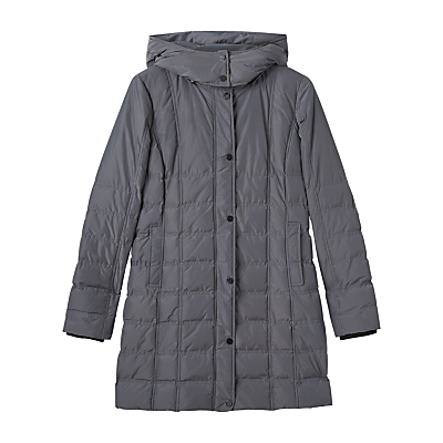 Precis Petite Amber Quilted Hooded Coat, Grey