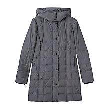 Buy Precis Petite Amber Quilted Hooded Coat, Grey Online at johnlewis.com