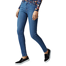 Buy Warehouse Skinny Cut Jeans, Mid Wash Denim Online at johnlewis.com