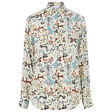 Buy Warehouse Thistle Print Shirt, Cream Online at johnlewis.com
