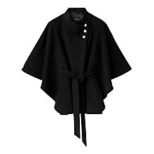 Buy Precis Petite Marianne Wool Cape, Black Online at johnlewis.com