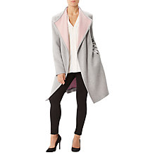 Buy Precis Petite Jeff Banks Wrap Coat, Mid Grey Online at johnlewis.com