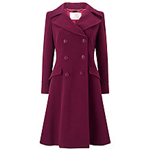 Buy Jacques Vert Fit and Flare Coat, Dark Red Online at johnlewis.com