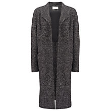 Buy Jacques Vert Edge to Edge Textured Coat, Mid Grey Online at johnlewis.com