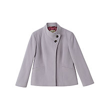 Buy Precis Petite Lillian Funnel Neck Coat, Grey Online at johnlewis.com