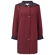 Buy Jacques Vert Classic Mid Length Mac, Dark Red Online at johnlewis.com