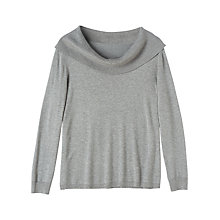 Buy Precis Petite Victoria Cowl Jumper, Grey Online at johnlewis.com