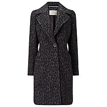 Buy Jacques Vert Leopard Coat, Mid Grey Online at johnlewis.com
