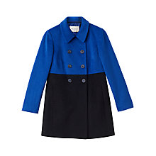Buy Precis Petite Addison Colour Block Coat, Navy Online at johnlewis.com