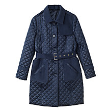 Buy Precis Petite Erin Quilted Belted Trench Coat Online at johnlewis.com