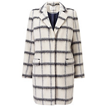 Buy Jacques Vert Oversized Check Coat, Multi/White Online at johnlewis.com