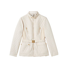 Buy Precis Petite Evie Quilted Jacket, Light Neutral Online at johnlewis.com