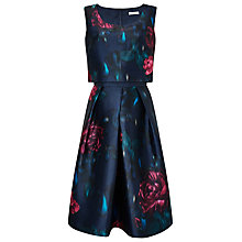 Buy Jacques Vert Lux Moonlight Prom Dress, Navy Online at johnlewis.com