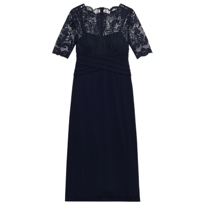 Precis Petite Ally Lace Maxi Dress, Navy