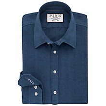 Buy Thomas Pink Chadwick Herringbone Slim Fit Shirt, Blue Online at johnlewis.com