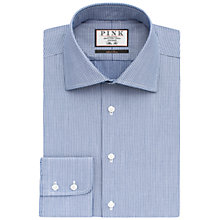 Buy Thomas Pink Hawkins Texture Slim Fit Shirt, Navy/White Online at johnlewis.com