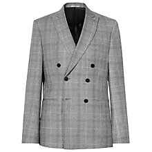 Buy Reiss Vincent Check Double Breasted Suit Jacket, Grey Online at johnlewis.com