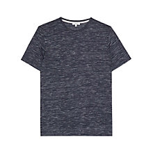 Buy Reiss Beja Flecked T-Shirt, Blue Online at johnlewis.com