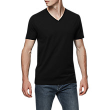 Buy Reiss Dayton Cotton V-Neck T-Shirt Online at johnlewis.com