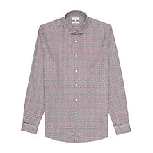 Buy Reiss Monza Geometric Print Slim Fit Shirt, Burgundy Online at johnlewis.com