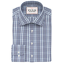 Buy Thomas Pink Reid Check Slim Fit Shirt, Navy/Sky Online at johnlewis.com