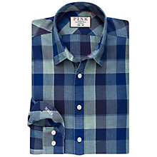 Buy Thomas Pink Barker Check Slim Fit Shirt, Green/Blue Online at johnlewis.com