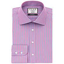 Buy Thomas Pink Beckman Stripe Slim Fit Shirt, Deep Blue/Pink Online at johnlewis.com