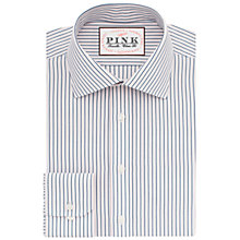 Buy Thomas Pink Corson Stripe Classic Fit XL Sleeve Shirt, Navy/Pink Online at johnlewis.com