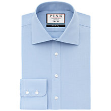 Buy Thomas Pink Hobson Textured Slim Fit XL Sleeve Shirt, Pale Blue/White Online at johnlewis.com