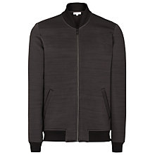Buy Reiss Eccles Jersey Bomber Jacket, Grey Online at johnlewis.com