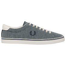Buy Fred Perry Underspin Canvas Trainers Online at johnlewis.com