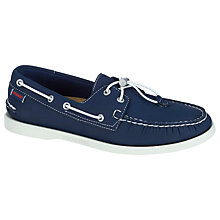 Buy Sebago Dockside Ariaprene Boat Shoes, Navy Online at johnlewis.com
